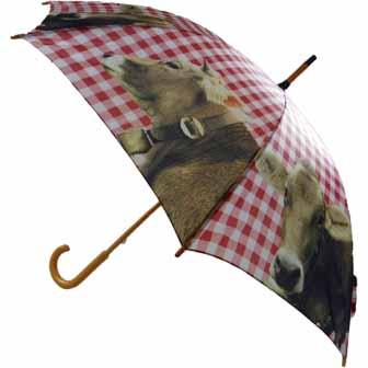 Regenschirm Alm Kuh