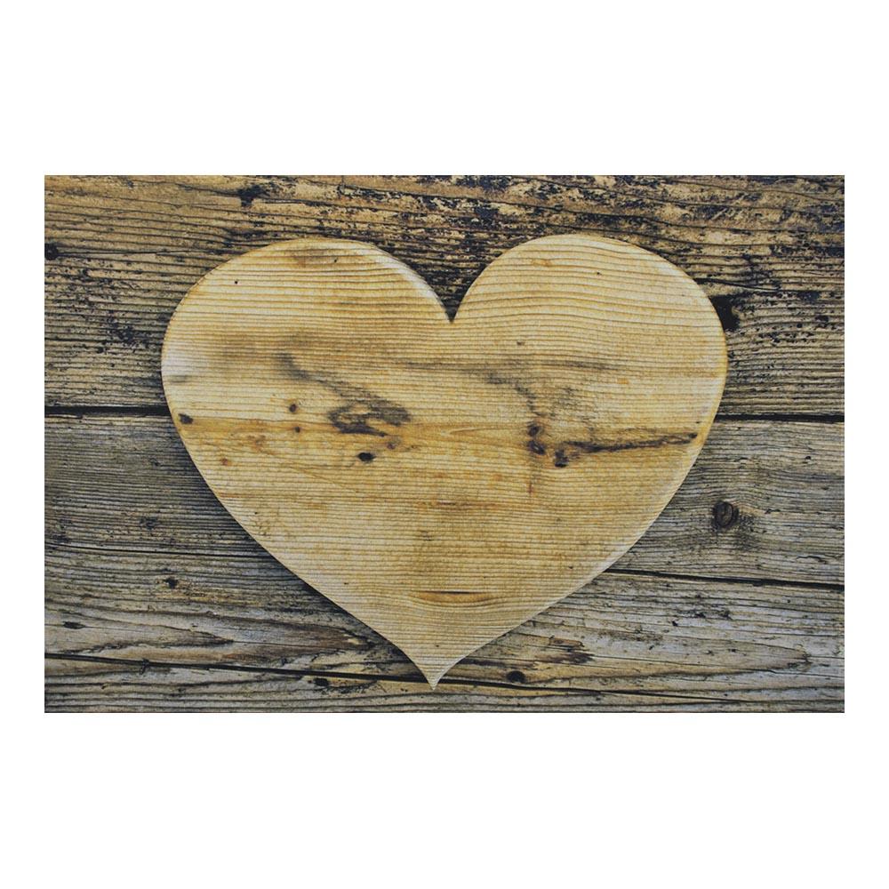 Fußmatte Allgäu Holz Herz