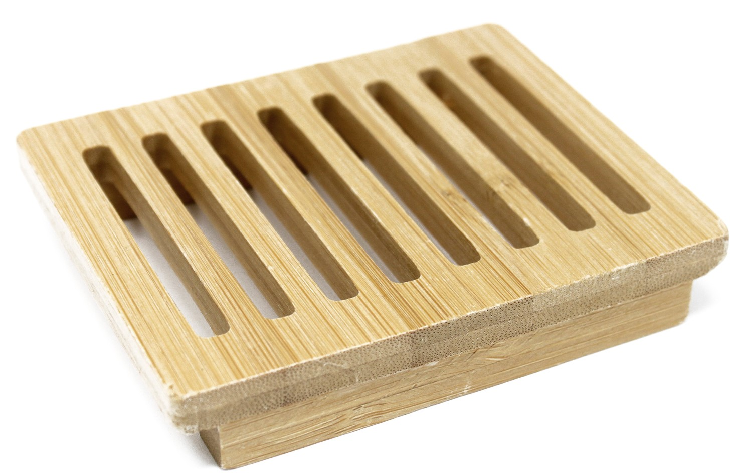 Holz Seifenschale offen