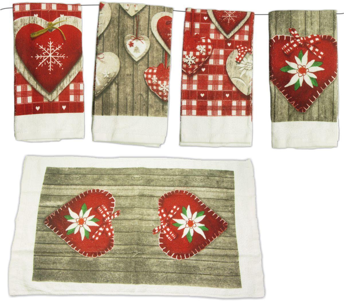 Herz Muster Handtuch