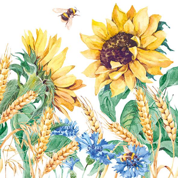 27 Serviette Sonnenblummen