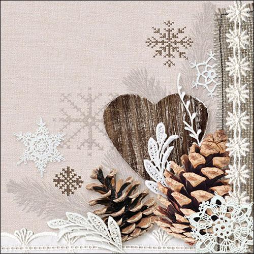 13 Serviette Winter Natur