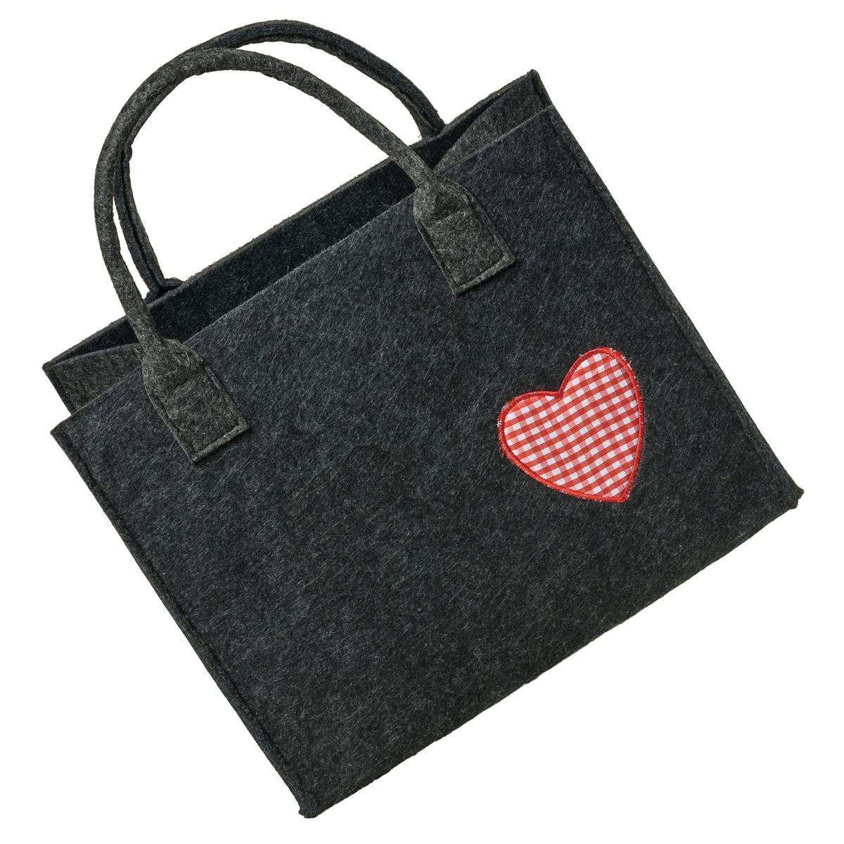 Einkaufstasche Filz Allgäu Herz