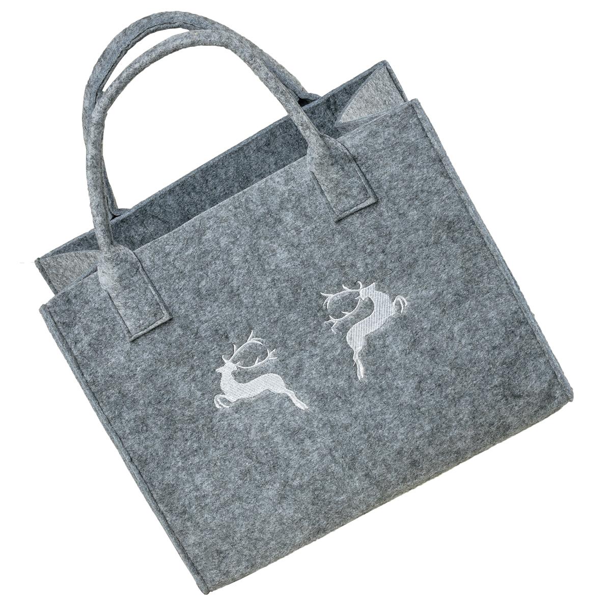 Einkaufstasche Filz Allgäu Hirsch