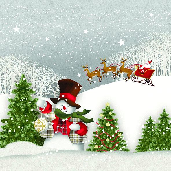 Serviette Happy_Holidays
