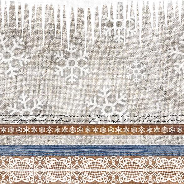 36 Serviette Weihnachts Schneeflocke