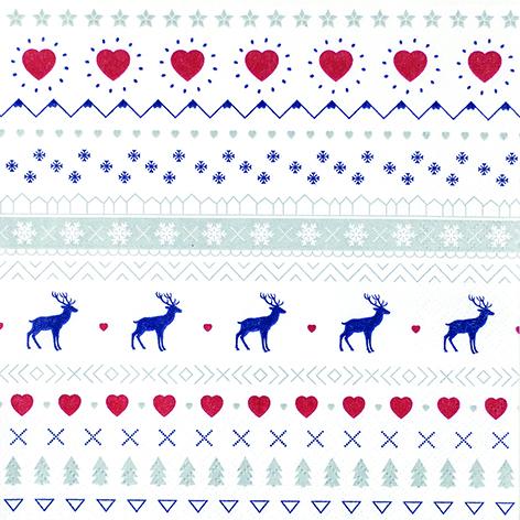 62 Serviette Winter Pattern