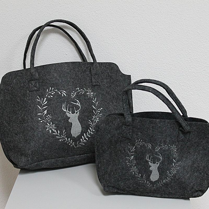 Einkaufs Tasche Filz quer