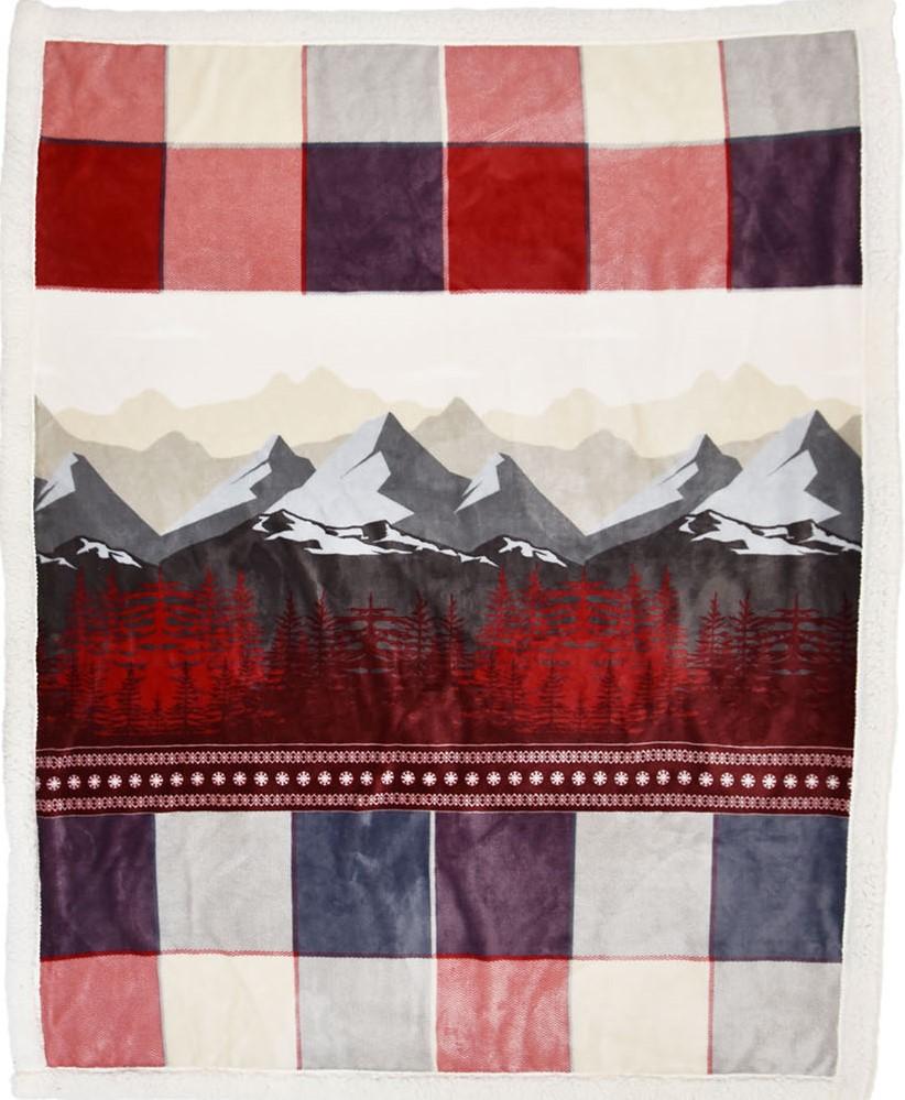 600 Kuscheldecke Zermatt rot